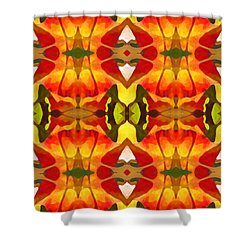 Tropical Leaf Pattern 8 Shower Curtain by Amy Vangsgard