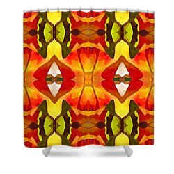 Tropical Leaf Pattern  9 Shower Curtain by Amy Vangsgard