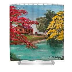 Tropical Lifestyle Shower Curtain