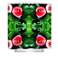 Tropical Lush-us Abstract Shower Curtain by Marianne Dow