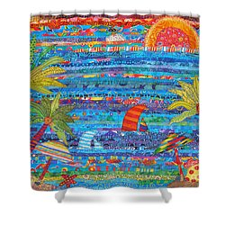 Tropical Moments Shower Curtain by Susan Rienzo