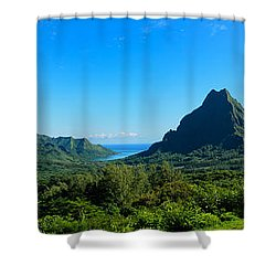 Tropical Moorea Panorama Shower Curtain