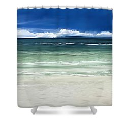 Shower Curtain featuring the digital art Tropical Ocean by Anthony Fishburne