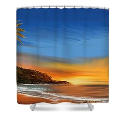 Shower Curtain featuring the digital art Tropical Paradise by Anthony Fishburne