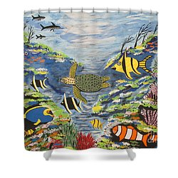 Tropical Paradise Shower Curtain by Jeffrey Koss