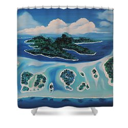 Shower Curtain featuring the painting Tropical Skies by Dianna Lewis