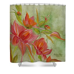 Shower Curtain featuring the painting Tropical Splash by Judith Rhue