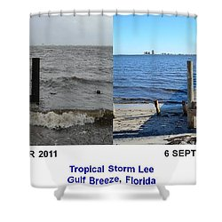 Tropical Storm Lee Difference A Day Makes Shower Curtain by Jeff at JSJ Photography