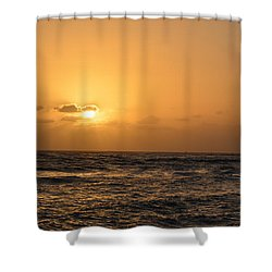 Tropical Sunset In Kauai Shower Curtain by P S