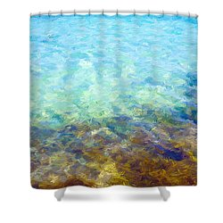Shower Curtain featuring the digital art Tropical Treasures by Anthony Fishburne