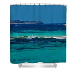 Shower Curtain featuring the photograph Tropical Umbrella by Don Schwartz