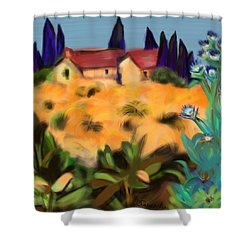 Tropical View Shower Curtain by Christine Fournier