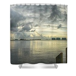 Tropical Winds In Orange Beach Shower Curtain by Michael Thomas