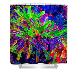 Shower Curtain featuring the photograph Tropicals Gone Wild by David Lawson
