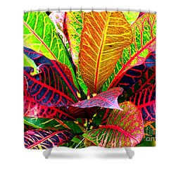 Tropicals Gone Wild Naturally Shower Curtain