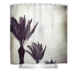 Trouble In Paradise Shower Curtain by Trish Mistric