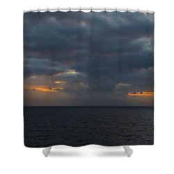 Shower Curtain featuring the photograph Troubled Skies by Jennifer Wheatley Wolf