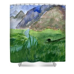 Trout Bum Shower Curtain