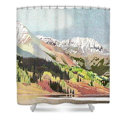 Trout Lake Colorado Shower Curtain by Dan Miller