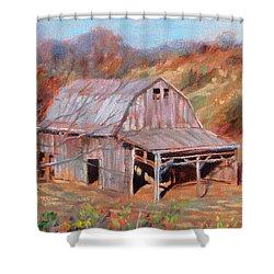 Troutville Barn Shower Curtain by Bonnie Mason