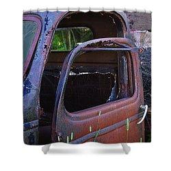 Truck And  Door Shower Curtain by Randy Pollard