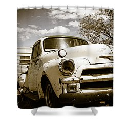 Shower Curtain featuring the photograph Truck And Trailer by Steven Bateson