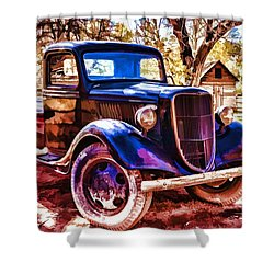 Truck Shower Curtain by Muhie Kanawati