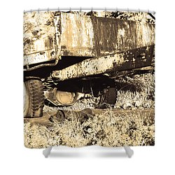 Truck Wreckage II Shower Curtain by Cassandra Buckley