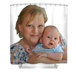 Trudy And Zachary Shower Curtain by Bruce Nutting