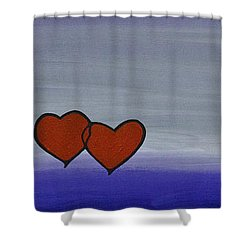 True Love Shower Curtain by Sharon Cummings
