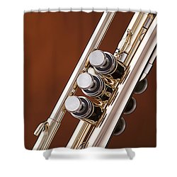 Trumpet Or Cornet Valves Isolated In Color 3017.02 Shower Curtain
