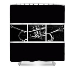 Trumpet Triptych Shower Curtain