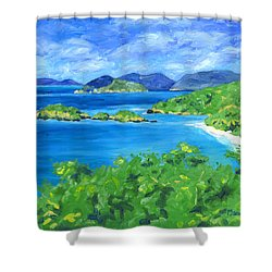 Trunk Bay Shower Curtain