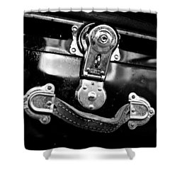 Trunk Latch Shower Curtain by Adria Trail