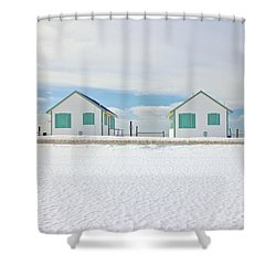 Truro Cottages Shower Curtain by Amazing Jules