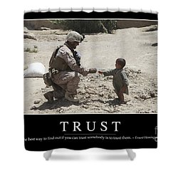 Trust Inspirational Quote Shower Curtain by Stocktrek Images