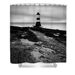 Trwyn Du Lighthouse 2 Shower Curtain