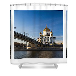 Tryptich - Cathedral Of Christ The Savior Of Moscow City - Features 3 Shower Curtain by Alexander Senin