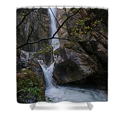 Shower Curtain featuring the photograph Tschaukofall Waterfall - Austria by Phil Banks