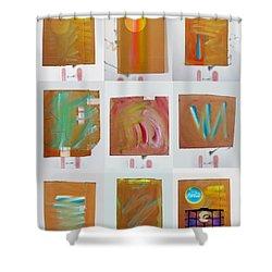Tsunami Quilt Shower Curtain by Charles Stuart