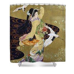 Tsuru No Mai Shower Curtain