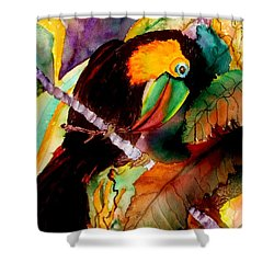 Tu Can Toucan Shower Curtain by Lil Taylor