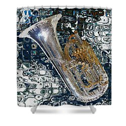 Tuba Shower Curtain by Jack Zulli