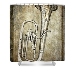 Tubacular Shower Curtain by Daniel Hagerman