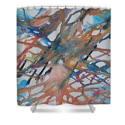 Shower Curtain featuring the painting Tube by Thomasina Durkay