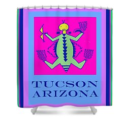 Tucson Arizona Shaman Shower Curtain by Vagabond Folk Art - Virginia Vivier