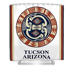 Tucson Arizona  Shower Curtain by Vagabond Folk Art - Virginia Vivier