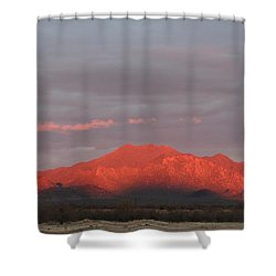 Shower Curtain featuring the photograph Tucson Mountains by David S Reynolds