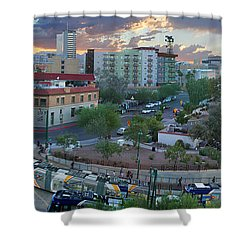 Tucson Streetcar Sunset Shower Curtain