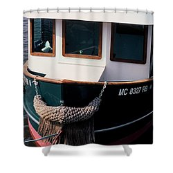 Tug  Shower Curtain by Randy Pollard